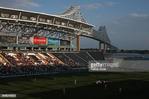 A general view during a Aviva Premiership match between the Newcastle Falcons and the Saracens at Talen Energy Stadium on September 16 2017 in...
