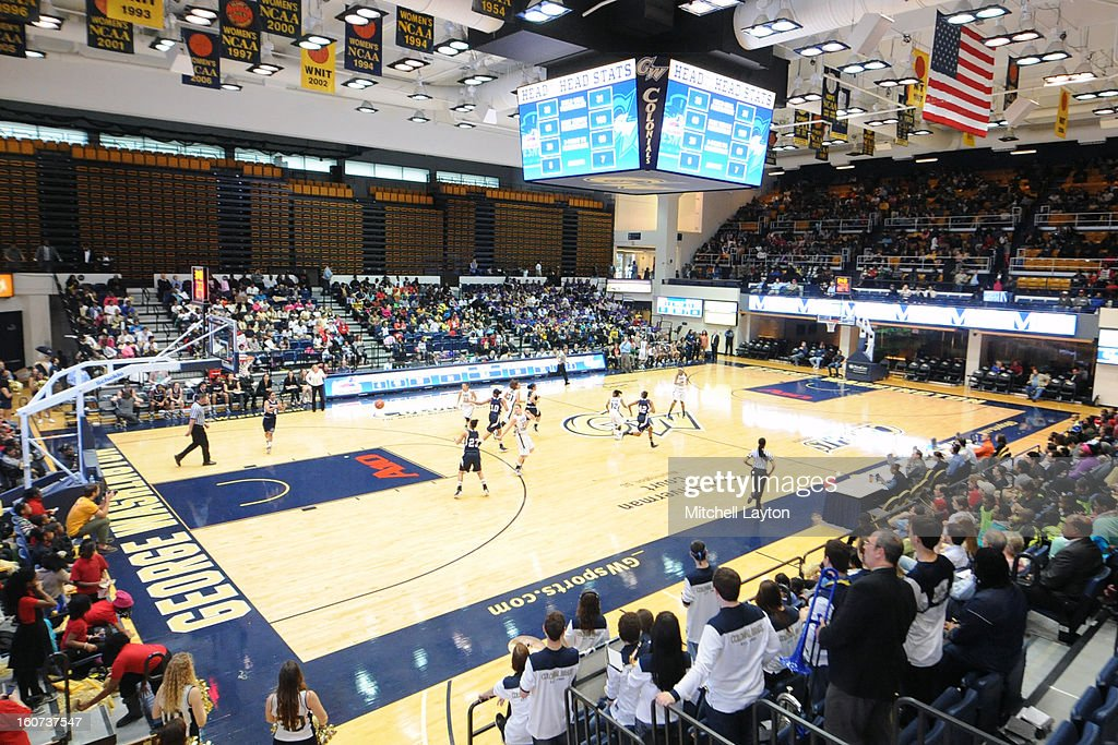 General view during a college basketball game between the Duquesne Dukes and the George Washington Colonials on January 30 2013 at the Smith Center...