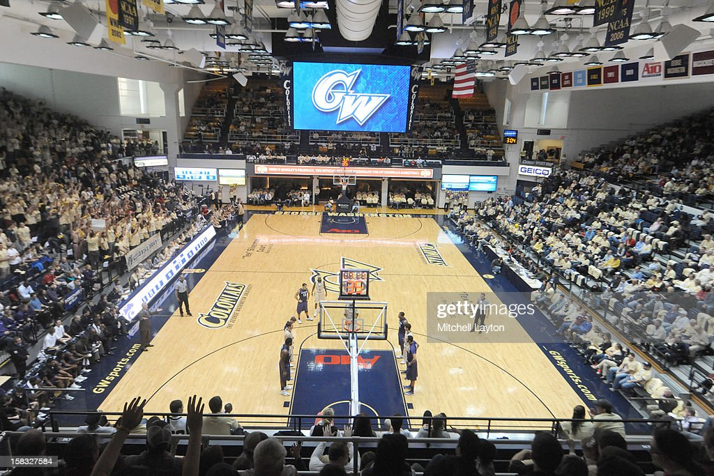 General view during a college basketball game between the Kansas State Wildcats and the George Washington Colonials on December 8 2012 at the Smith...