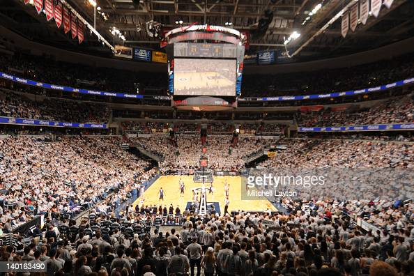 General view during a college basketball game between the Villanova Wildcats and the Georgetown Hoyas on February 25 2012 at the Verizon Center in...