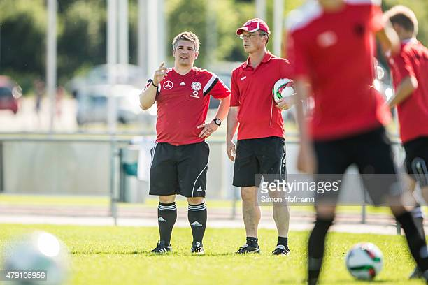 A general view during a DFB Mobil Club Visit at Spvgg 1910 Langenselbold on June 30 2015 in Langenselbold Germany