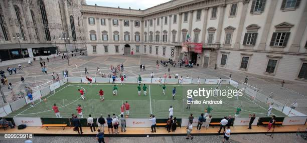A general view during a football clinic for integration organized by Italian Football Federation on June 22 2017 in Milan Italy