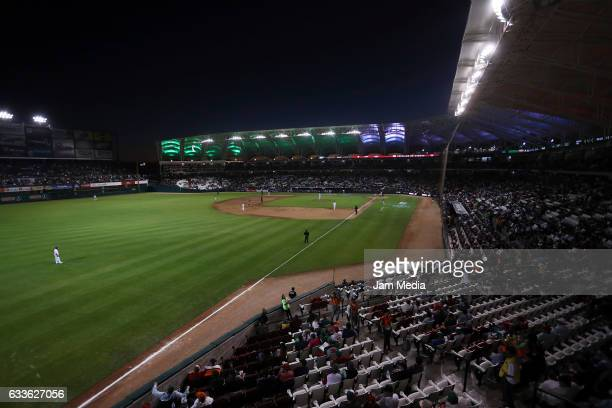 General view during a game between Aguilas del Zulia of Venezuela and Criollos de Caguas of Puerto Rico as part of the Baseball Caribbean Series...