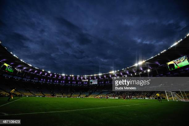 General view during a match between Botafogo and Internacional as part of Brasileirao Series A 2014 at Maracana Stadium on April 27 2014 in Rio de...