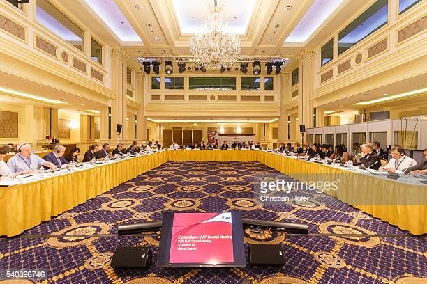 General view during a meeting of the IAAF Council at the Grand Hotel on June 17 2016 in Vienna Austria