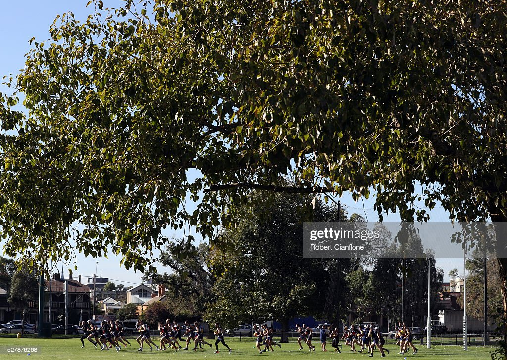 A general view during a Melbourne Demons AFL training session at Goschs Paddock on May 4, 2016 in Melbourne, Australia.