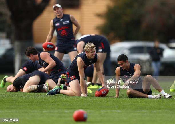 A general view during a Melbourne Demons AFL training session at Gosch's Paddock on August 18 2017 in Melbourne Australia