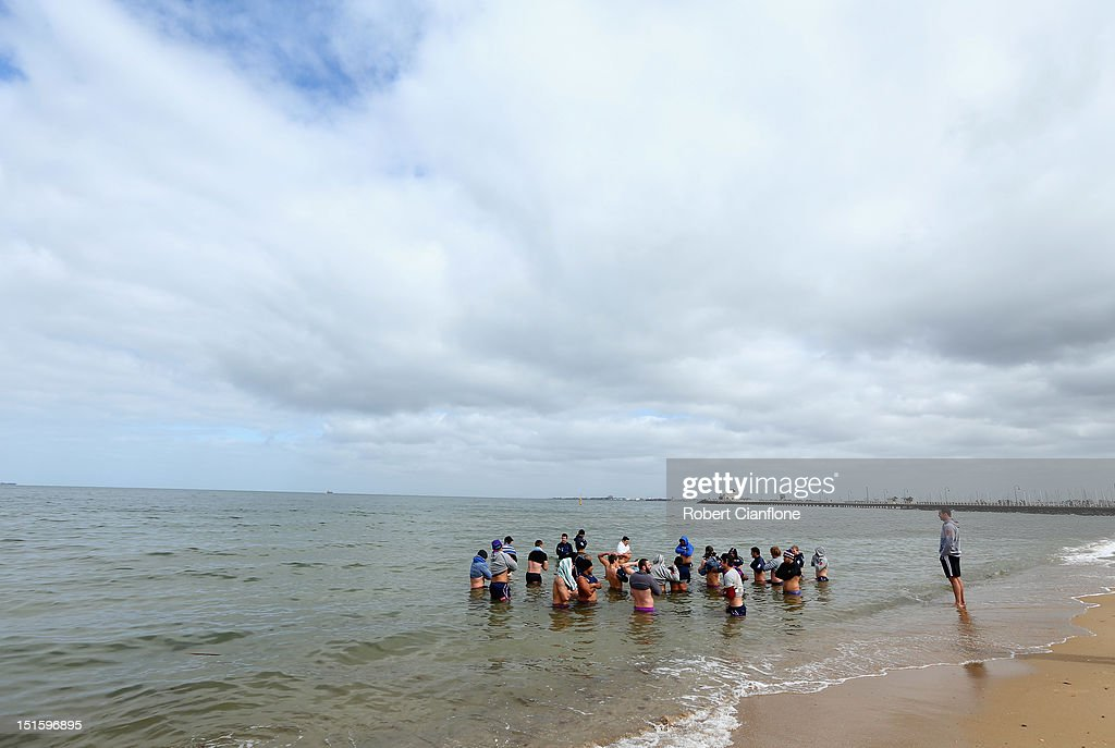 A general view during a Melbourne Storm recovery session at St Kilda Sea Baths on September 9, 2012 in Melbourne, Australia.