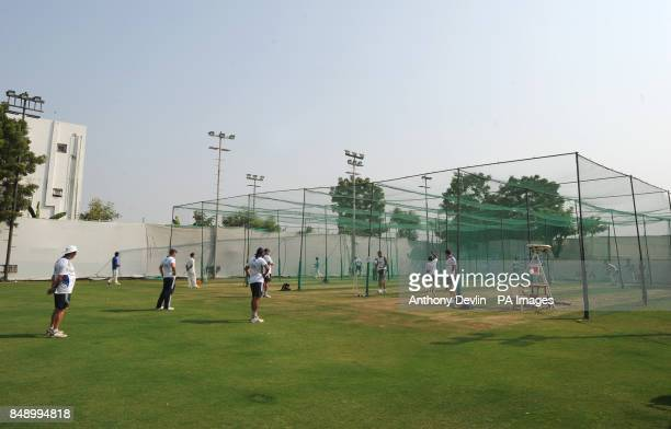 General view during a nets practice session at the Sardar Patel Stadium Ahmedabad India