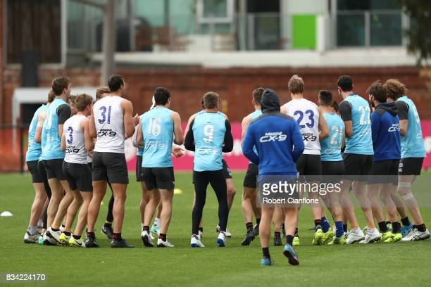A general view during a North Melbourne Kangaroos AFL training session at Arden Street Ground on August 18 2017 in Melbourne Australia
