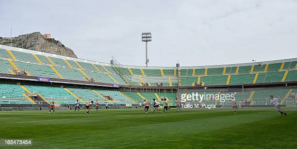 A general view during a Palermo training session at Stadio Renzo Barbera on April 4 2013 in Palermo Italy