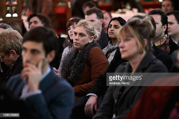 General view during a Panel Discussion on day three of the 61st Berlin International Film Festival at the Mirror Restaurant on February 12 2011 in...