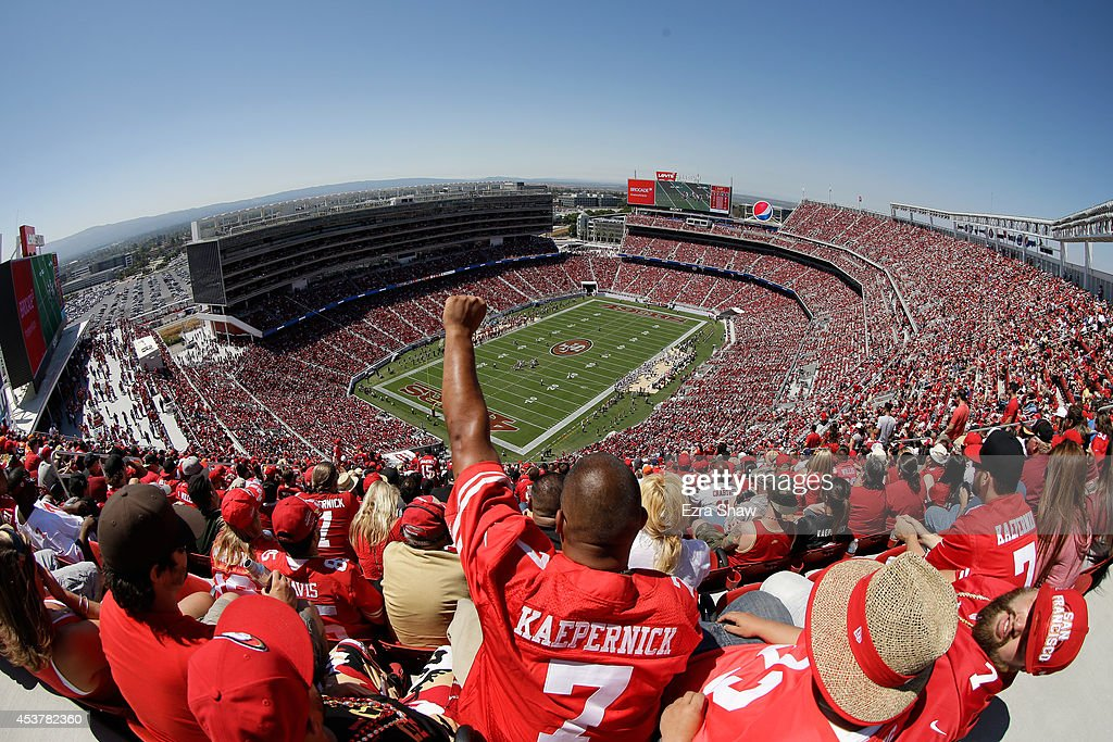 A general view during a preseason game between the San Francisco 49ers and Denver Broncos at Levi's Stadium on August 17, 2014 in Santa Clara, California.