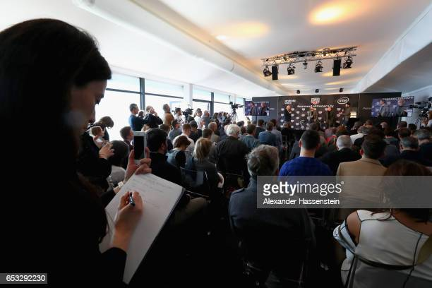 A general view during a press conference at the international launch of the TAG Heuer Connected Modular 45 Swiss Made on March 14 2017 in Brunnen...