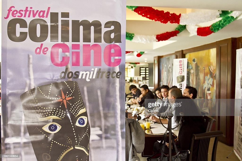 General view during a press conference to present the Colima Film Festival 2013 at Del Bosque Restauran ton Septmeber 09, 2013 in Mexico City, Mexico.