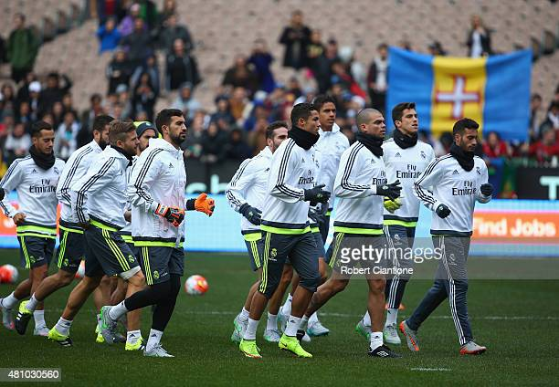 A general view during a Real Madrid training session at Melbourne Cricket Ground on July 17 2015 in Melbourne Australia