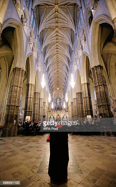 A general view during a service for the Inauguration of the Tenth General Synod at Westminster Abbey on November 24 2015 in London England