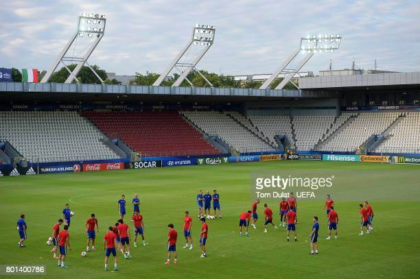 A general view during a Spain training session on June 26 2017 in Krakow Poland