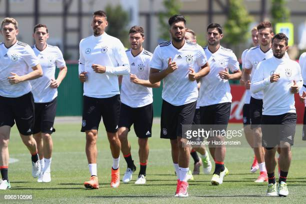 General view during a team Germany training session at Park Arena training ground on June 16 2017 in Sochi Russia