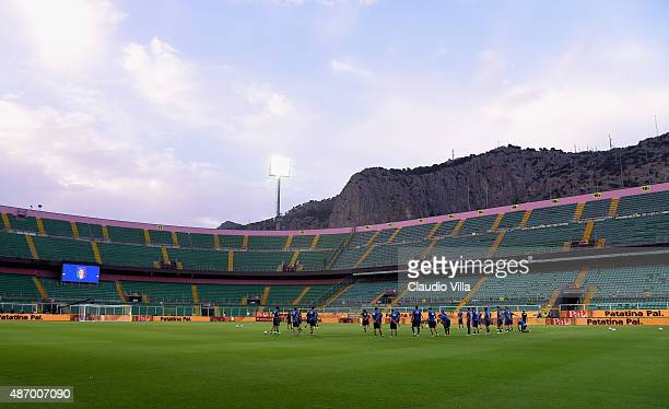 A general view during a training session at Renzo Barbera Stadium on September 5 2015 in Palermo Italy