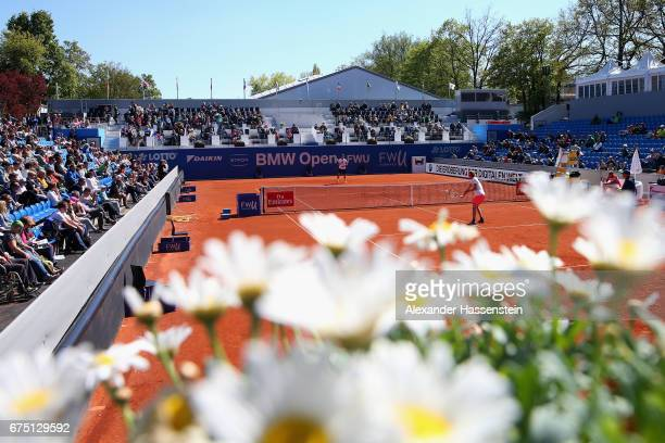 General view during a training session of Alexander Zverev of Germany during the 102 BMW Open by FWU at Iphitos tennis club on April 30 2017 in...