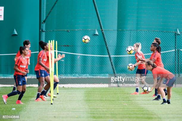 General view during a training session of Paris Saint Germain at Bougival on July 25 2017 in Paris France