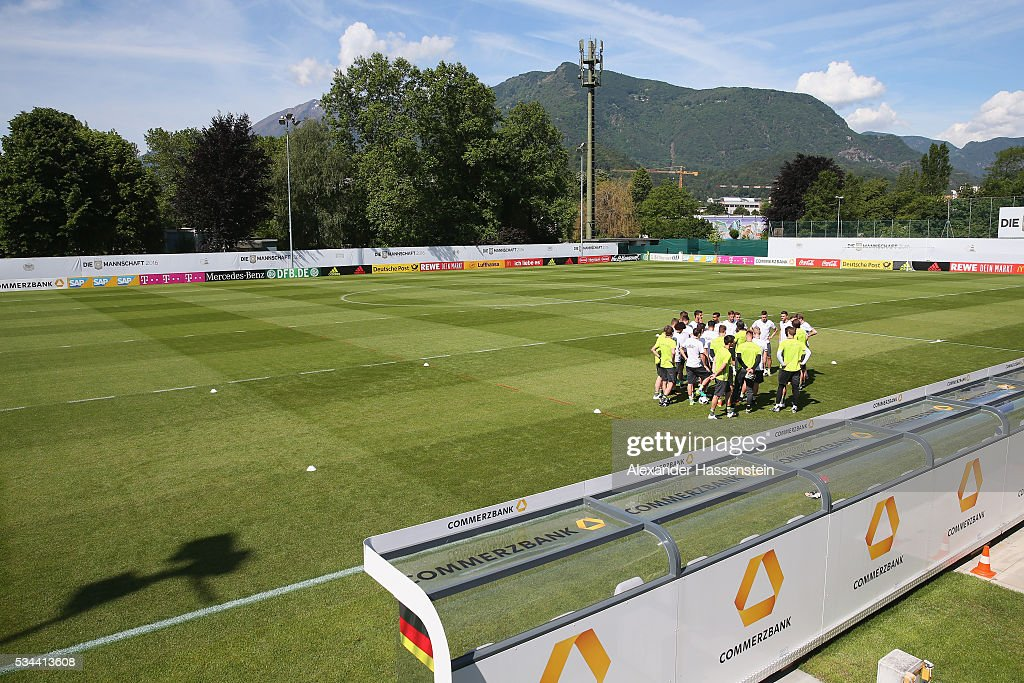 General view during a training session of team Germany at stadio communale on day 3 of the German national team trainings camp on May 26, 2016 in Ascona, Switzerland.