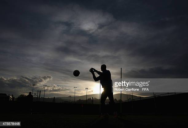 A general view during a Uruguay U20s training session at Logan Park on June 2 2015 in Dunedin New Zealand