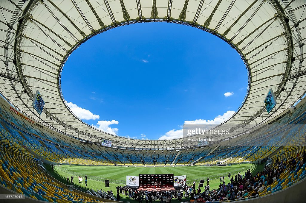 A general view during a William 'Patolino' Macario holds an open training session for media at Maracana Stadium on October 23 2014 in Rio de Janeiro...