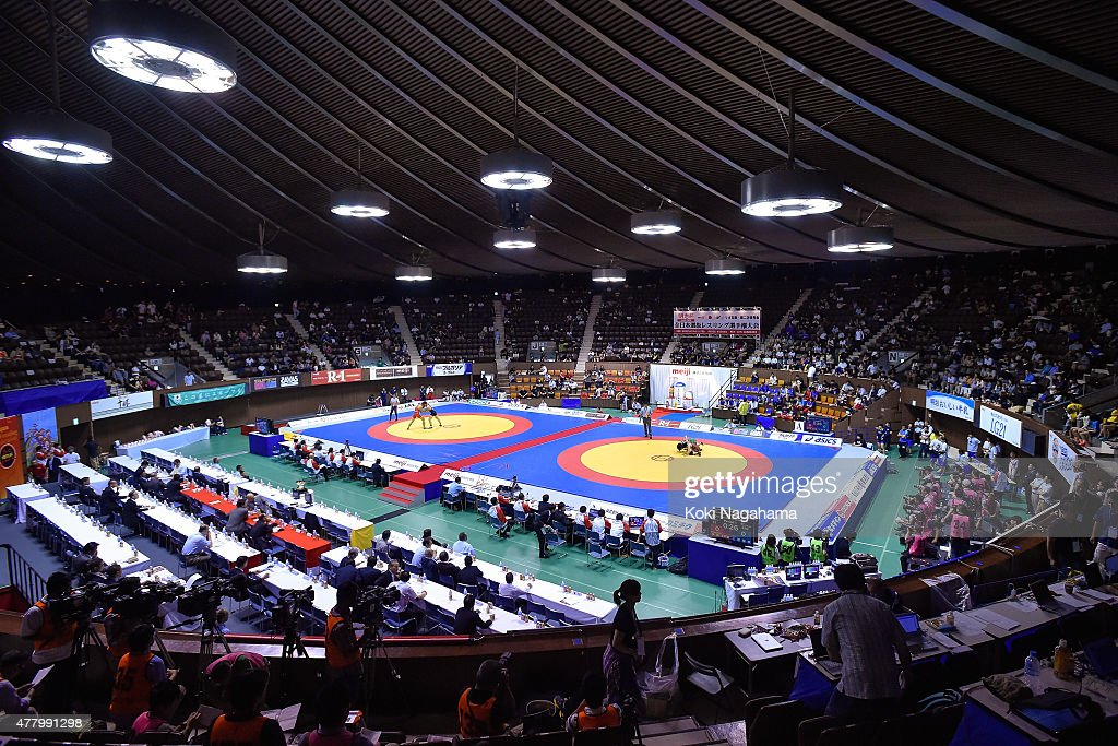 A general view during All Japan Wrestling Championships at Yoyogi National Gymnasium on June 21 2015 in Tokyo Japan