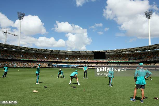 General view during an Australia training session at The Gabba on November 20 2017 in Brisbane Australia