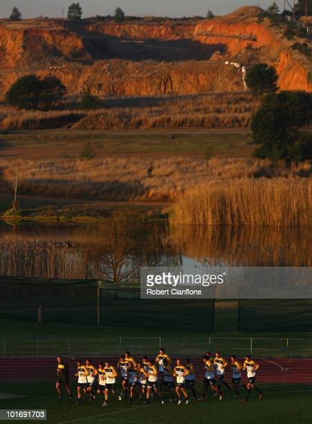 A general view during an Australian Socceroos training session at Ruimsig Stadium on June 7 2010 in Roodepoort South Africa