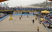 A general view during Day 2 of the Manhattan Beach Open on June 5 2004 in Manhattan Beach California