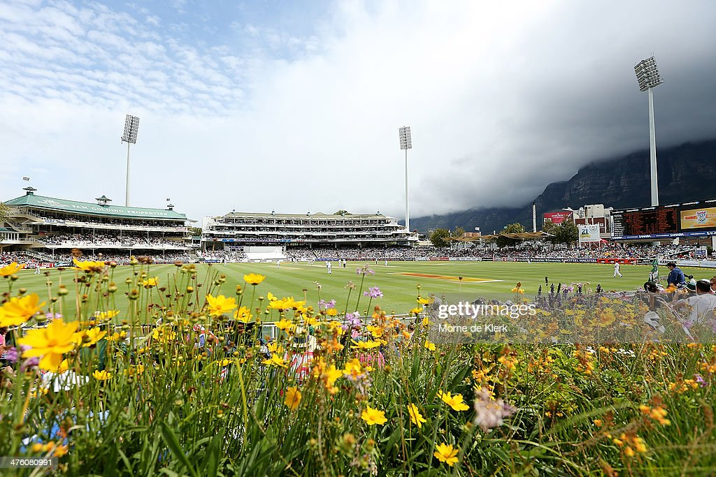 A general view during day 2 of the third test match between South Africa and Australia at Sahara Park Newlands on March 2, 2014 in Cape Town, South Africa.