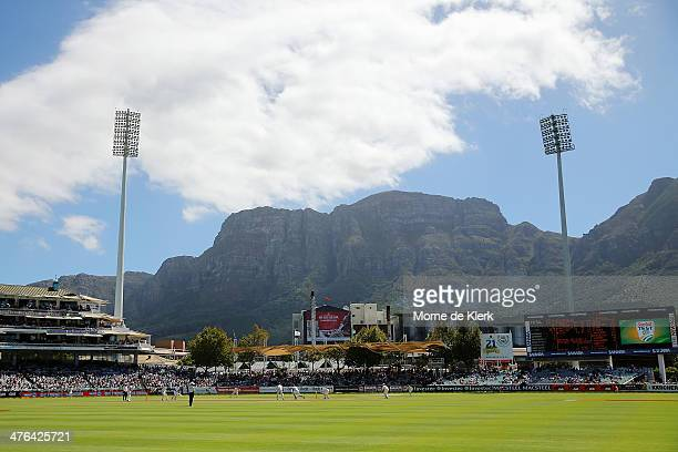A general view during day 3 of the third test match between South Africa and Australia at Sahara Park Newlands on March 3 2014 in Cape Town South...