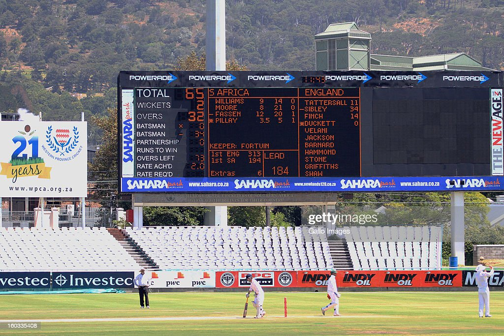 A general view during day 3 of the U/19 1st Youth Test match between South Africa and England at Sahara Park Newlands on January 29, 2013 in Cape Town, South Africa