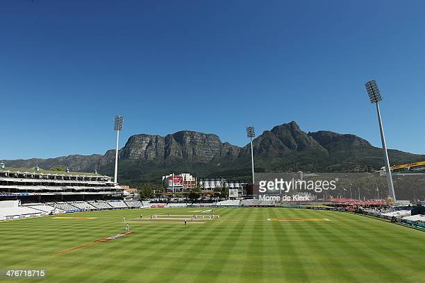 A general view during day 5 of the third test match between South Africa and Australia at Sahara Park Newlands on March 5 2014 in Cape Town South...