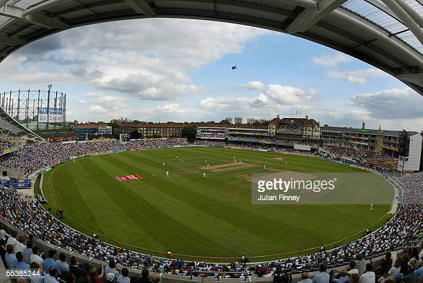 A general view during day five of the fifth npower Ashes Test match between England and Australia at the Brit Oval on September 12 2005 in London...