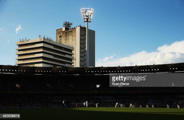 A general view during day four of the First Ashes Test match between Australia and England at The Gabba on November 24 2013 in Brisbane Australia