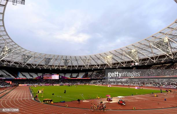 A general view during day nine of the IPC World ParaAthletics Championships 2017 at London Stadium on July 22 2017 in London England