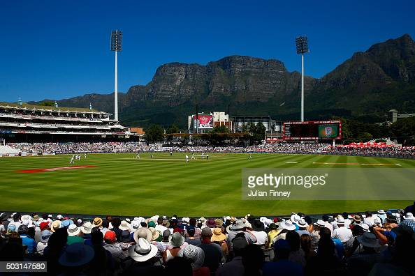 A general view during day one of the 2nd Test at Newlands Stadium on January 2 2016 in Cape Town South Africa