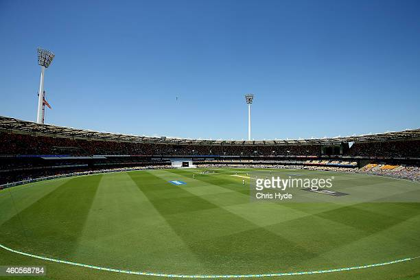 General view during day one of the 2nd Test match between Australia and India at The Gabba on December 17 2014 in Brisbane Australia