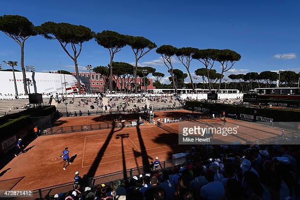 A general view during Day One of the The Internazionali BNL d'Italia 2015 at the Foro Italico on May 10 2015 in Rome Italy