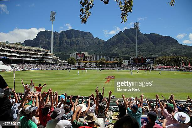 A general view during day one of the third test match between South Africa and Australia at Newlands cricket ground on March 1 2014 in Cape Town...