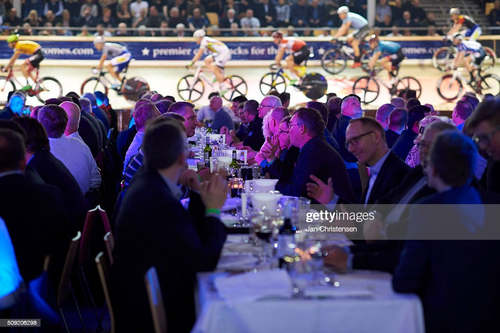 General view during Day six at the Copenhagen Six Days Cycling Race at Ballerup Super Arena on February 09, 2016 in Ballerup, Denmark.