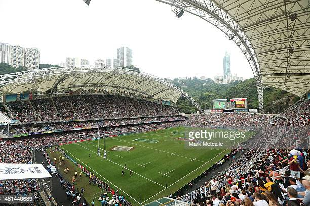 A general view during day three of the 2014 Hong Kong Sevens at Hong Kong International Stadium on March 30 2014 in Hong Kong Hong Kong