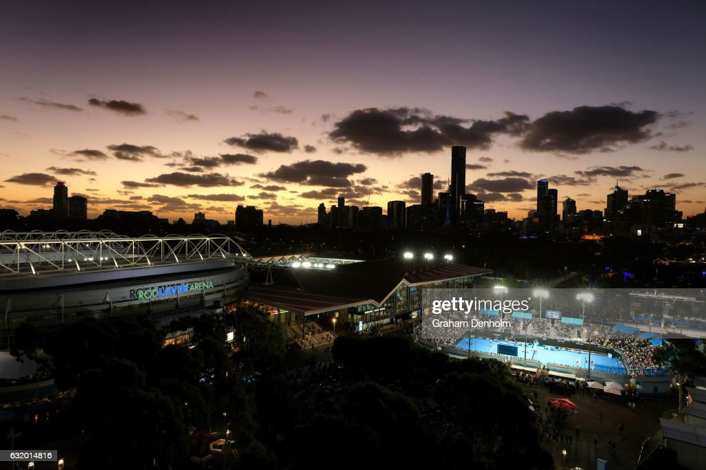 A general view during day three of the 2017 Australian Open at Melbourne Park on January 18, 2017 in Melbourne, Australia.