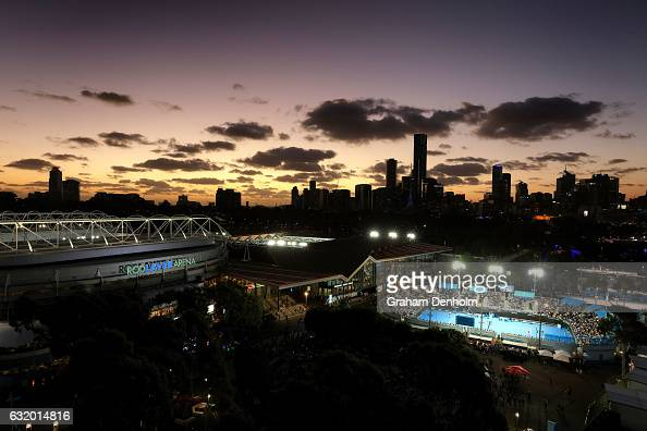 A general view during day three of the 2017 Australian Open at Melbourne Park on January 18 2017 in Melbourne Australia