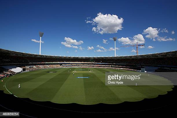 General view during day three of the 2nd Test match between Australia and India at The Gabba on December 19 2014 in Brisbane Australia