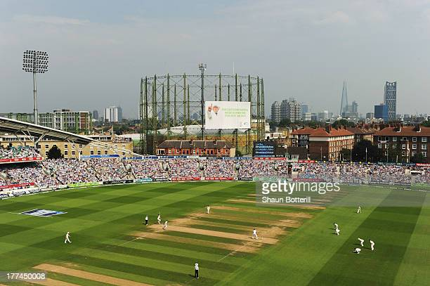 A general view during day three of the 5th Investec Ashes Test match between England and Australia at the Kia Oval on August 23 2013 in London England